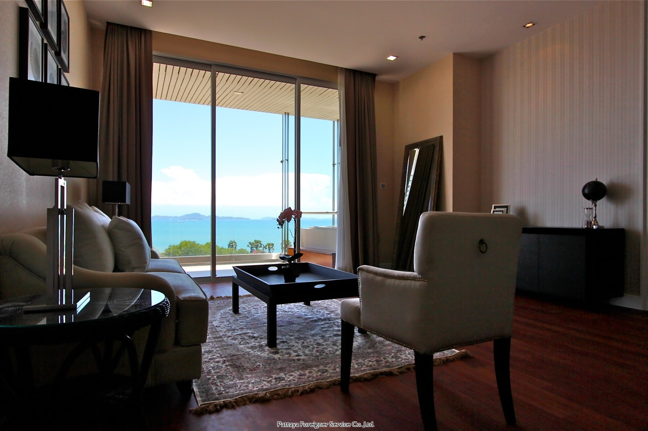 2 bed with ocean and city view  Condominiums for sale in Central Pattaya Pattaya