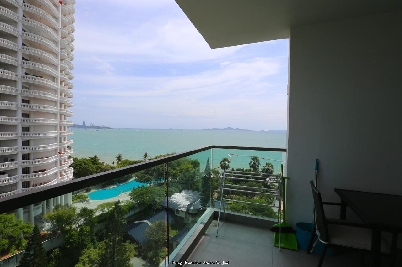 one bedroom condo in wong amat att hyra i Naklua Pattaya