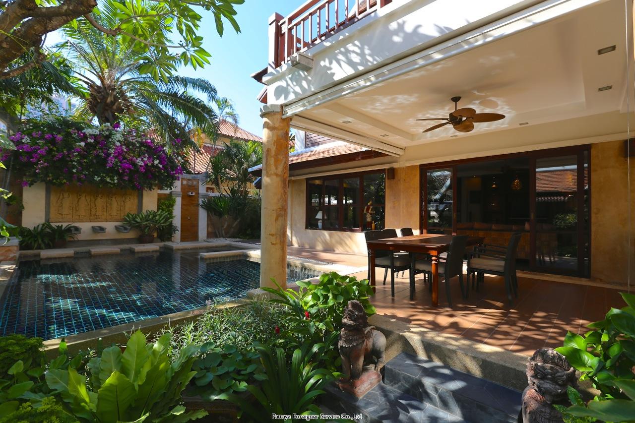 pattaya house maison à louer dans les Jomtien